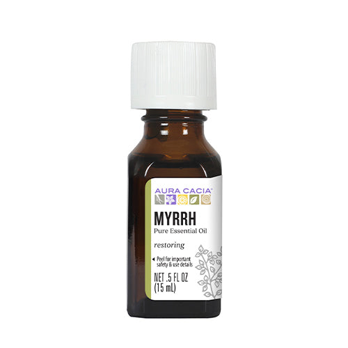 Aura Cacia Organic Myrrh Essential Oil 15ml