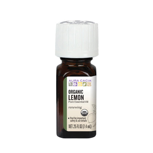 Aura Cacia Organic Lemon Pure Essential Oil 7.4ml