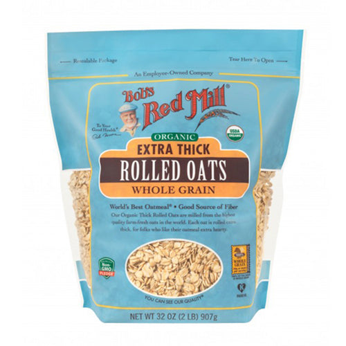 Bob's Red Mill Organic Extra Thick Rolled Oats 907g