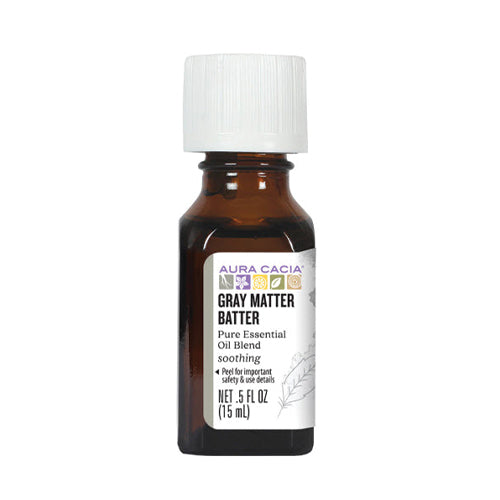 Aura Cacia Gray Matter Batter Pure Essential Oil 15ml