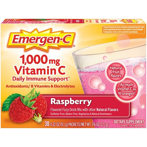Emergen-C® 1,000mg Vitamin C Raspberry 30 Packets