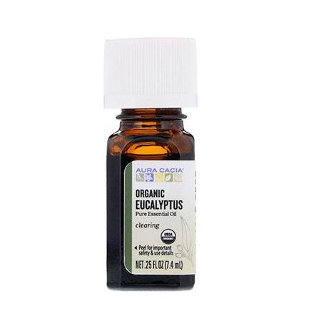 Aura Cacia Organic Eucalyptus Essential Oil 7.4ml
