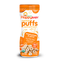 Happy Baby Puffs Sweet Potato & Carrot 60g