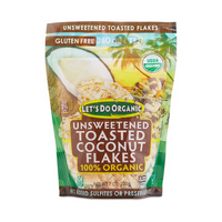 Let's Do Organic Unsweetened Toasted Coconut Flakes 200g
