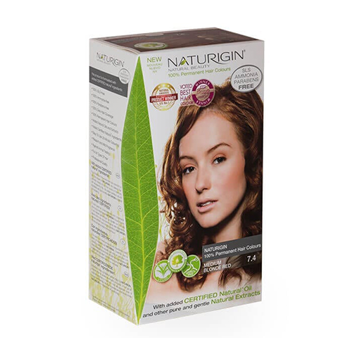 Naturigin Hair Colour 7.4 Medium Blonde Red 110g