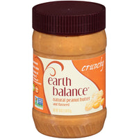 Earth Balance Crunchy Natural Peanut Butter 453g