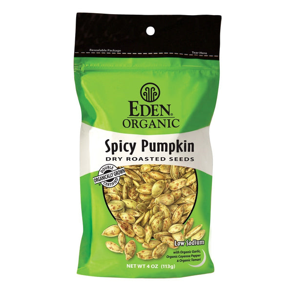 Eden Dry Roasted Spicy Pumpkin Seeds 113g