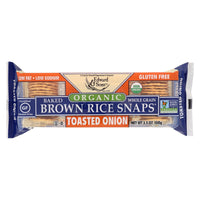 Edward & Sons Gluten-Free Toasted Onion Brown Rice Snaps 100g