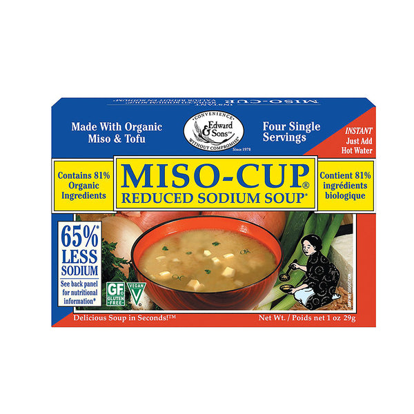 Edward & Sons Reduced Sodium Miso Soup 29g