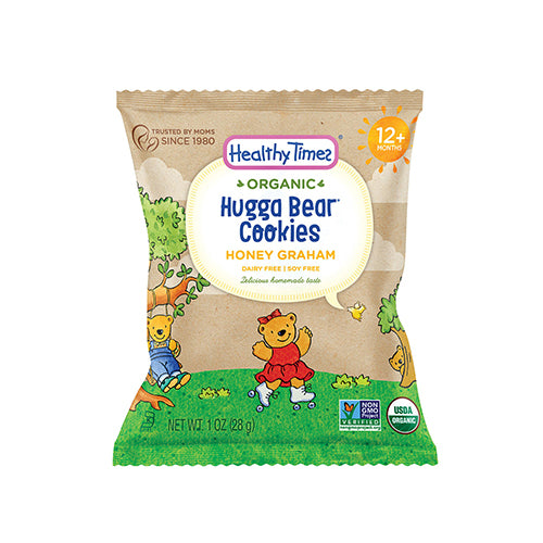 Healthy Times Organic Hugga Bear Honey Graham Cookies 28g