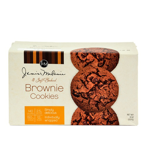 J&M Soft Baked Brownie Cookies 227g