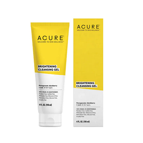 Acure Brightening Cleansing Gel Pomegranate, Blackberry & Acai 118ml