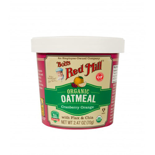 Bob's Red Mill Organic Cranberry Orange Oatmeal Cup 70g