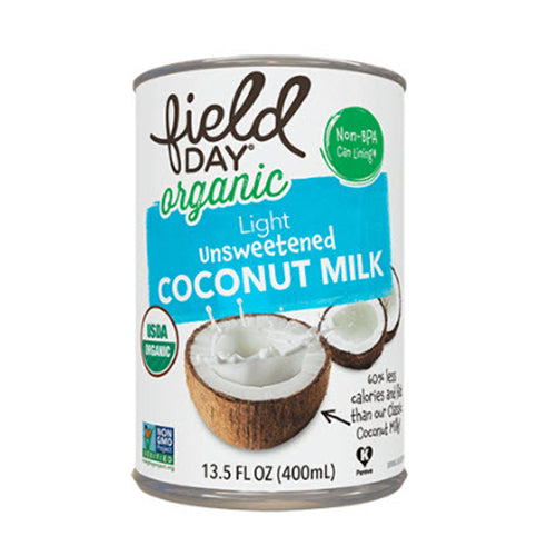 Field Day Organic Light Unsweetened Coconut Milk 400ml