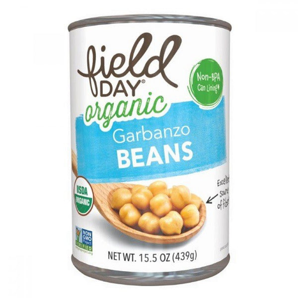 Field Day Organic Garbanzo Beans 439g