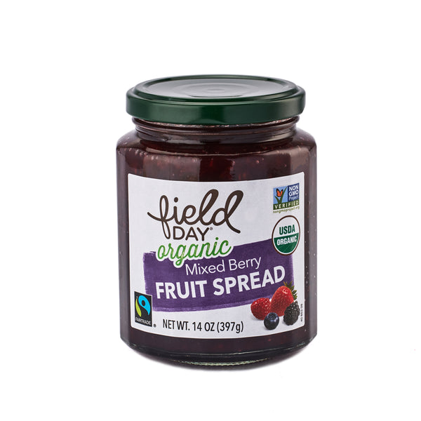 Field Day Organic Mixed Berry Fruit Spread 397g