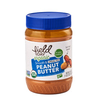 Field Day Organic Smooth & Unsalted Peanut Butter 510g