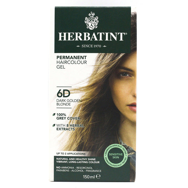 Herbatint 6D Dark Golden Blonde Hair Color 150ml