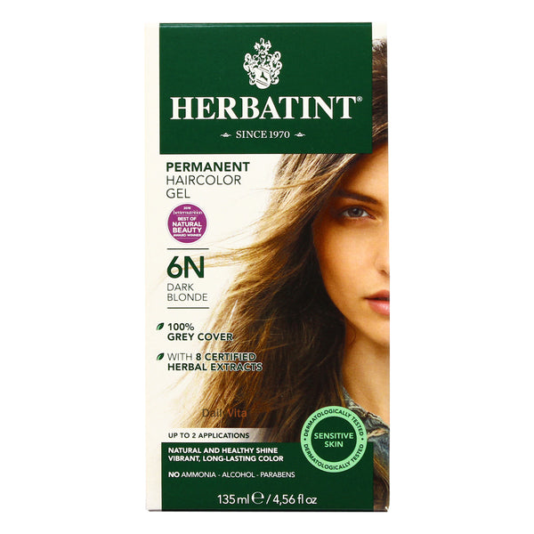 Herbatint 6N Dark Blonde Hair Color 135ml