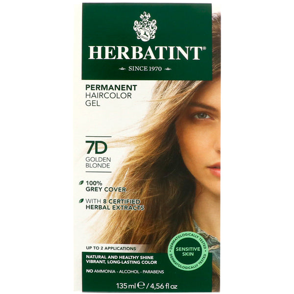 Herbatint 7D Golden Blonde Hair Color 135ml