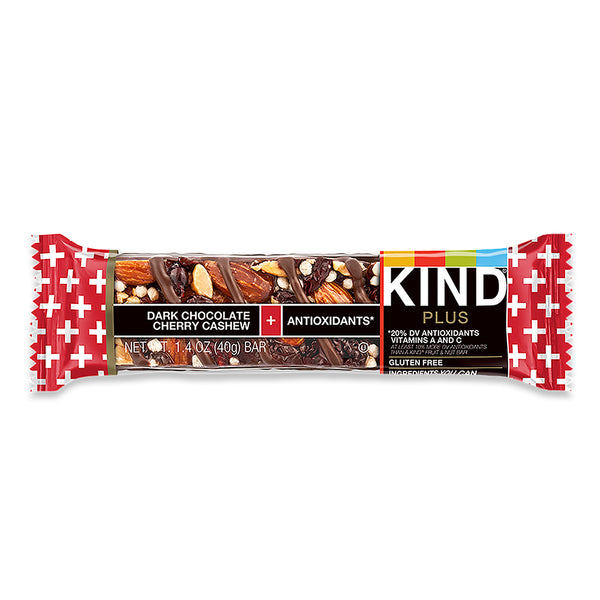 Kind Dark Chocolate Cherry Cashew Plus Bar 40g