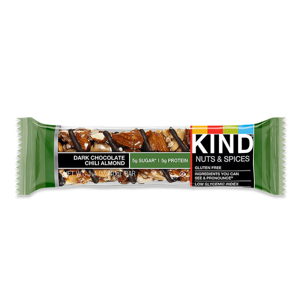 Kind Dark Chocolate Chili Almond Bar 40g