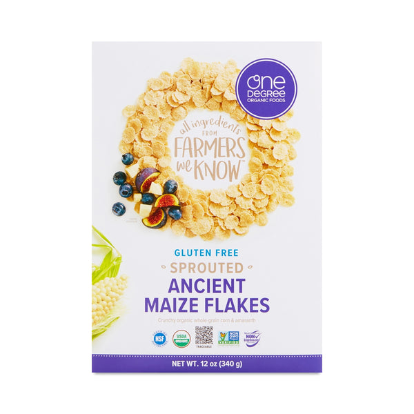 One Degree Organic Sprouted Ancient Maize Flakes Cereal 340g