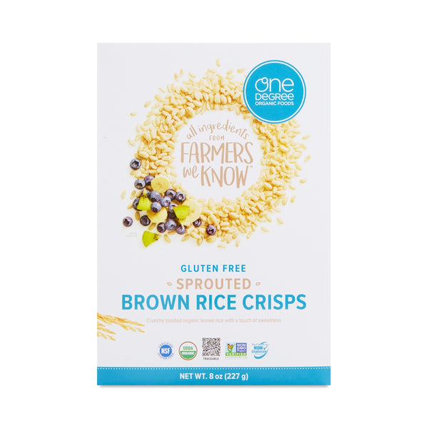 One Degree Organic Sprouted Brown Rice Crisps Cereal 227g