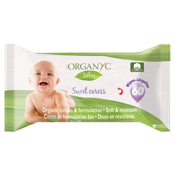 Organyc Baby Sweet Caress Wipes 60 pulls