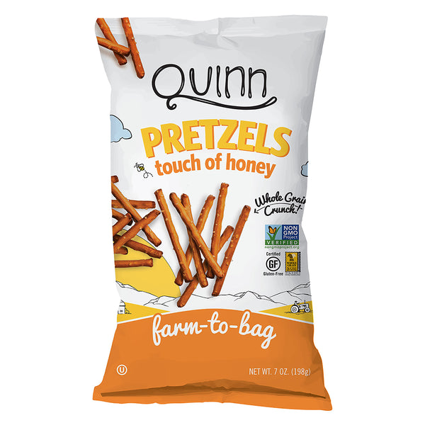 Quinn Touch of Honey Pretzels 198g