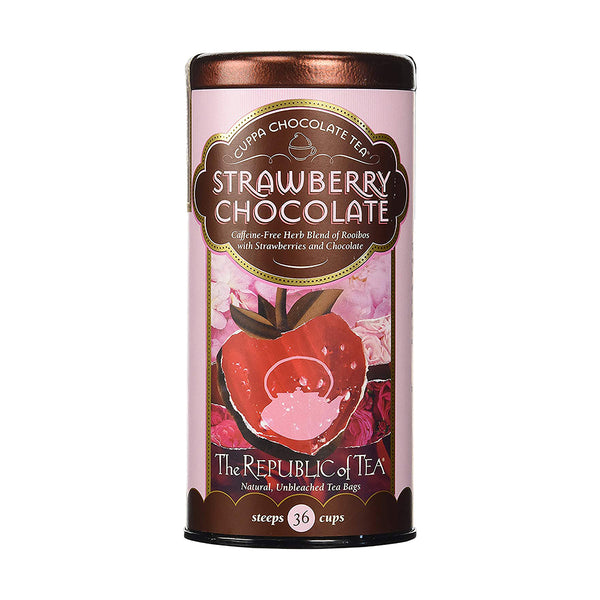 Republic Of Tea Strawberry Cuppa Chocolate 36 Tea Bags