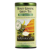 Republic Of Tea Honey Ginseng Green Tea 50 Tea Bags