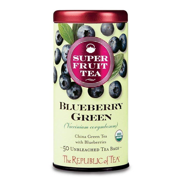 Republic Of Tea Superfruit Blueberry Green Tea 50 Tea Bags