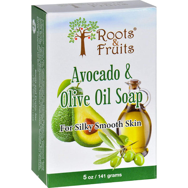 Roots & Fruits Avocado & Olive Oil Soap 141g