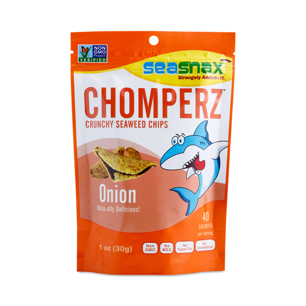 Seasnax Onion Chomperz Seaweed Chips 30g