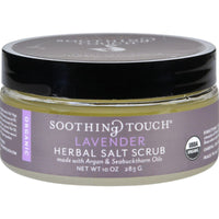 Soothing Touch Organic Lavender Salt Body Scrub 283g