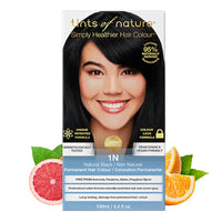 Tints of Nature 1N Natural Black Hair Color 130ml