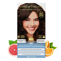 Tints of Nature 4N Natural Medium Brown Hair Color 130ml