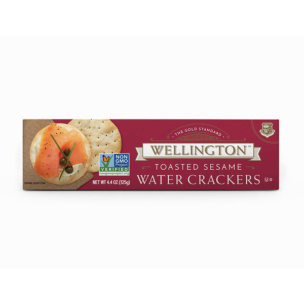 Wellington Toasted Sesame Water Crackers 125g