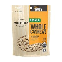 Woodstock Farms Organic Whole Cashews 198g