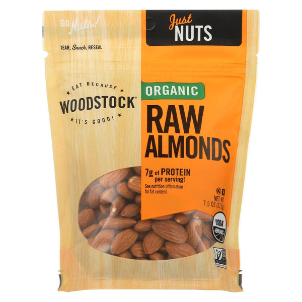 Woodstock Organic Raw Almonds 213g