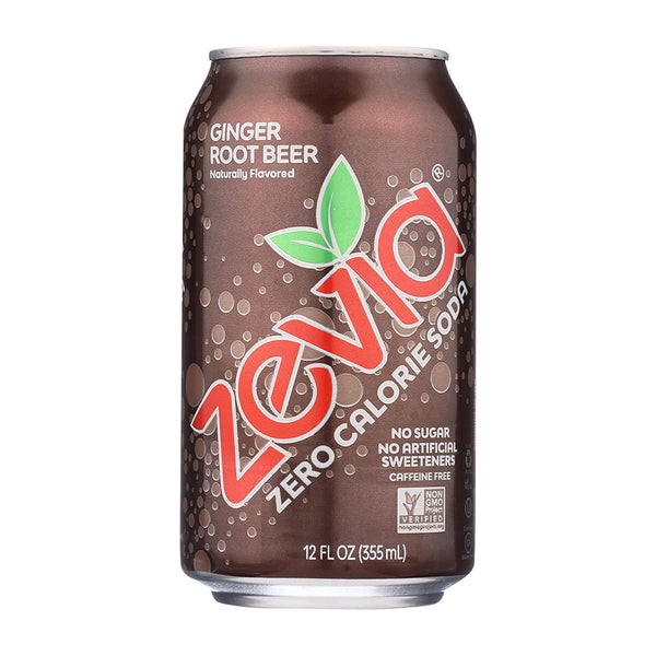 Zevia Ginger Root Beer Soda 355ml