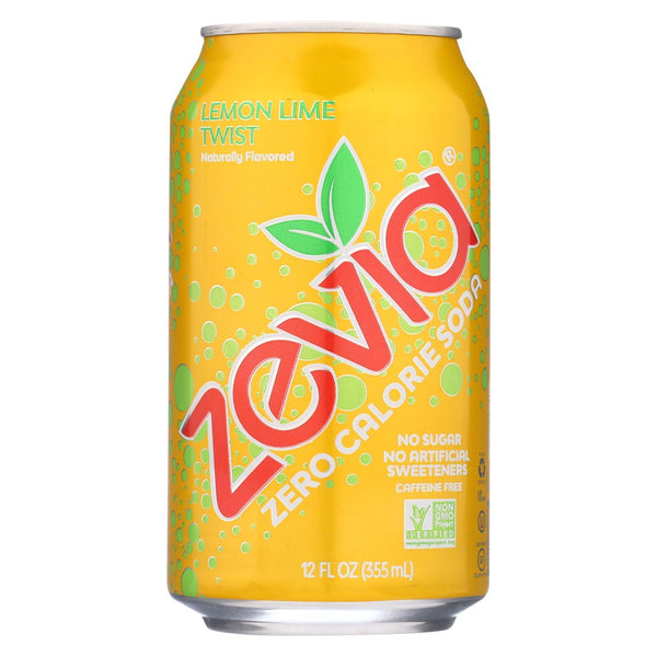 Zevia Lemon Lime Twist Soda 355ml