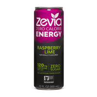 Zevia Zero Calorie Energy Raspberry Lime 355ml