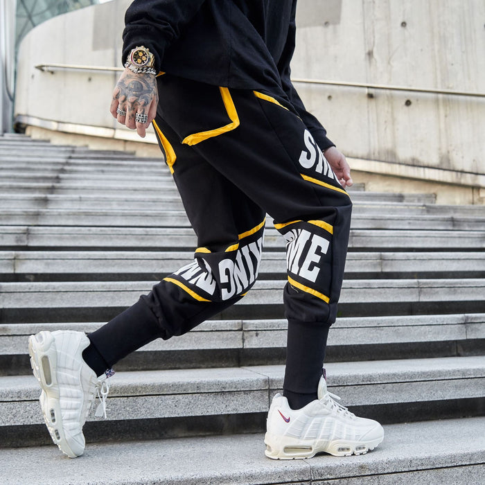 New Sports Feet Printed Harem Japanese Street Long Pants