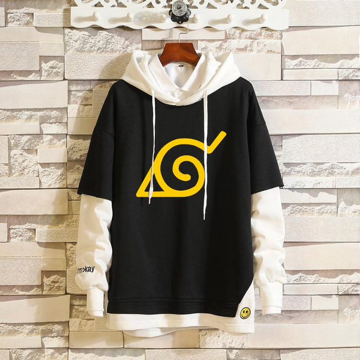 Japanese Anime -Naruto Naruto Sasuke Akatsuki casual fake two sweaters