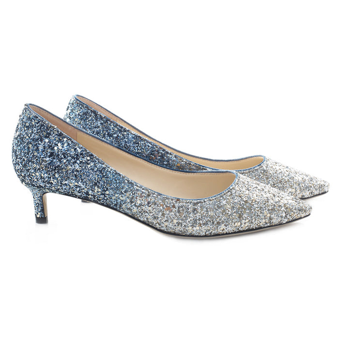 Glitter Heels -Silver powder Sequins