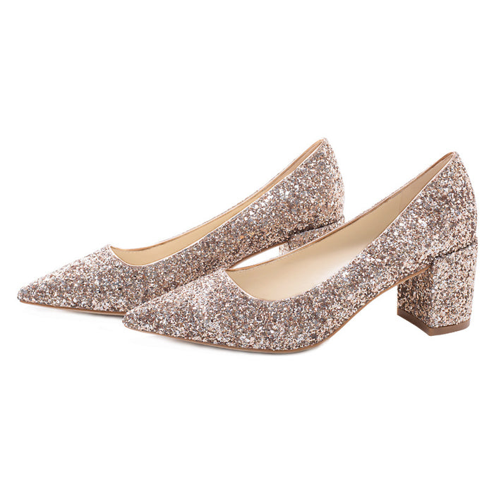 Glitter Heels  - Golden little CK princess crystal