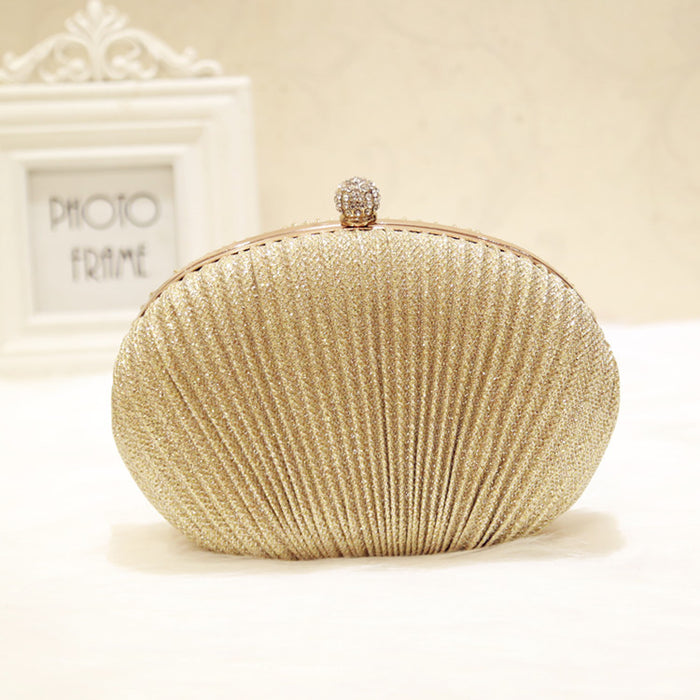 Trendy Dinner Bag Creative Shell Shell Clutch Bag Shoulder Cosmetic Bag