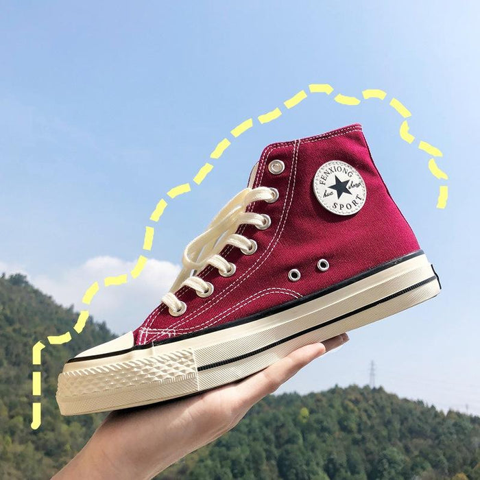Japanese anime retro high-top canvas shoes